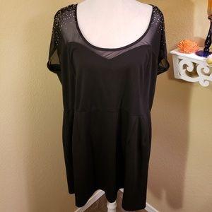 Little Black Dress was/ Sheer Sparkly Shoulders